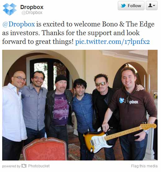 Bono y The Edge invierten en Dropbox