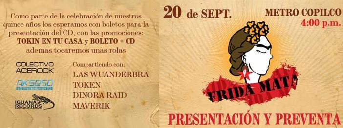 Frida Mata presenta su nuevo disco y habrá fiesta