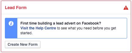 formulario para lead en facebook
