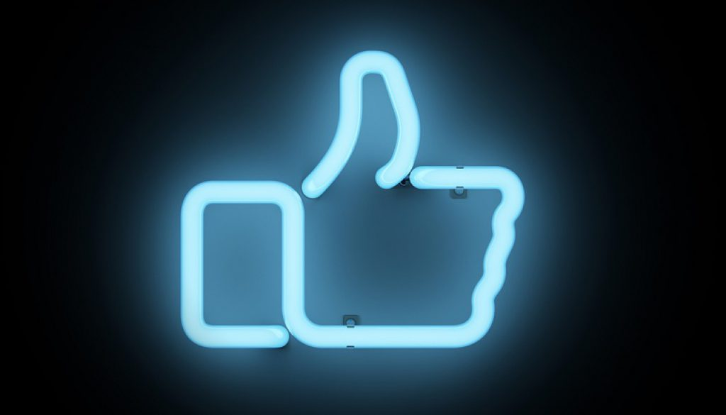 Neon thumb up