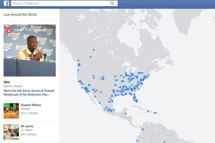 Mapa interactivo de Facebook para ver videos en vivo a nivel mundial