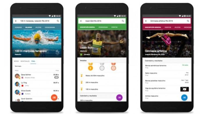Sigue los Juegos Olímpicos desde Google