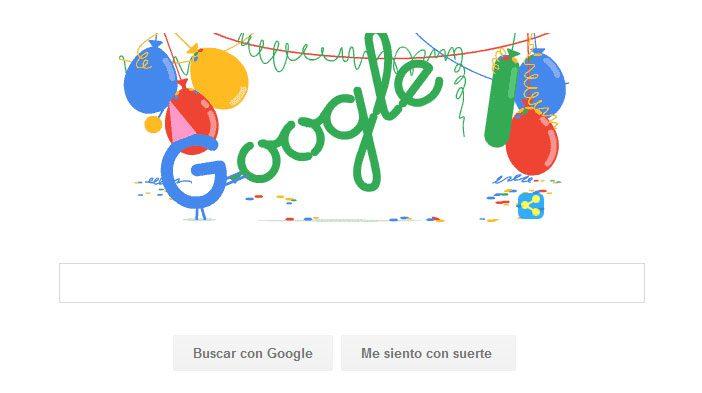 Google está de fiesta por sus 18 años