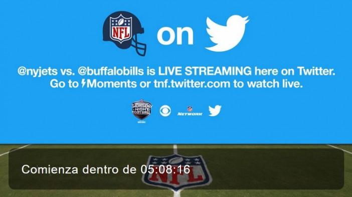 Los juegos de la NFL a través de Twitter