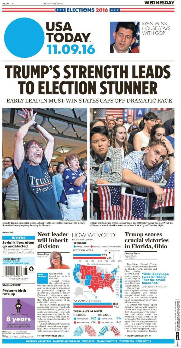 """""""Fuerza de Trump lleva a bomba electoral. Conteo en estados clave pone fin a dramática contienda."""""""