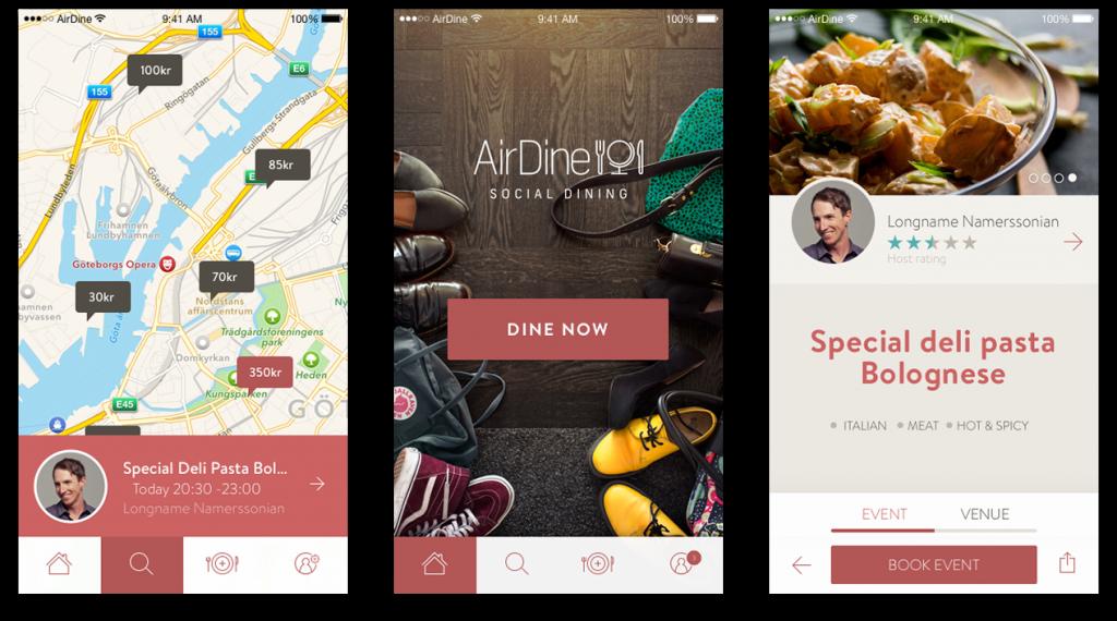 airdine app-cenas sociales