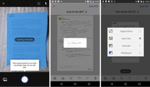 Aplicación para escanear documentos